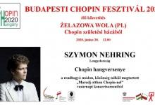 Budapesti Chopin Fesztivál 2020 harmadik online koncertje